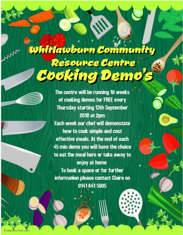 Cooking demo poster