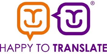 Happy to translate logo