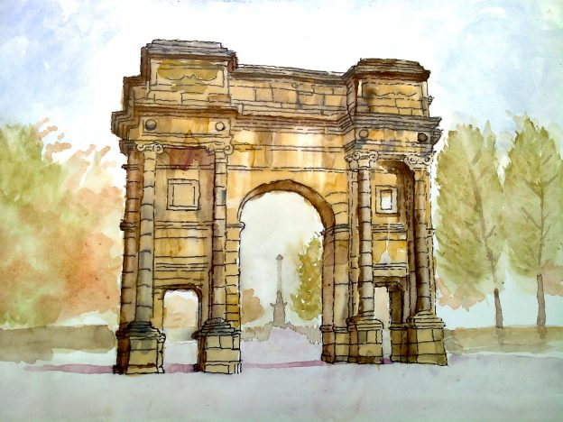 mclennan-arch-by-helen-anderson-watercolour
